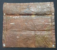 WW2 British Camo Anti Gas material pouch. Marked with WD Broad Arrow along with Aug PR 1941 and