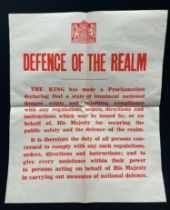 WW2 British Defence of the Realm Poster. Size 378mm x 453mm. Unissued condition. Rare poster.