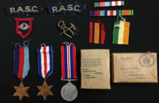 WW2 British Army Guards Armoured Division RASC Medal Group to H Robinson comprising of 1939-45 Star,