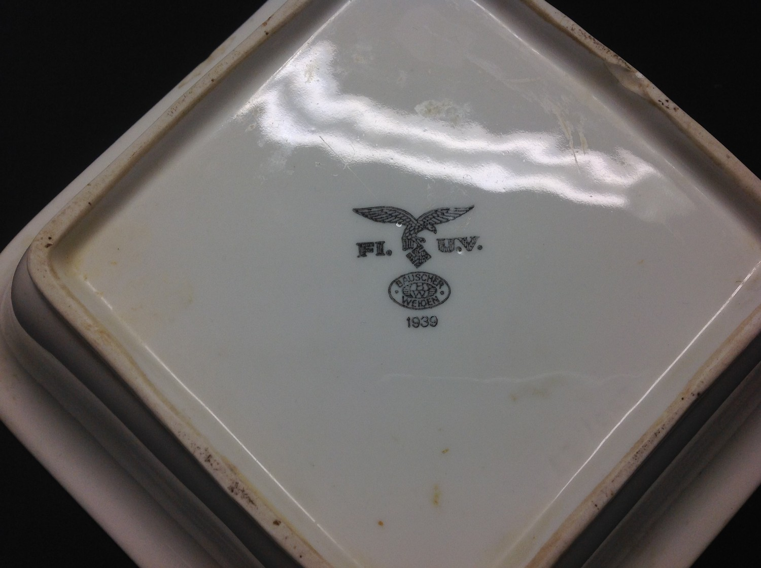 WW2 Third Reich Luftwaffe, Kreigsmarine and DAF dinnerware, eight items, plus two items of - Image 7 of 10