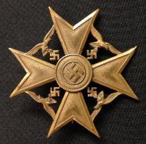 WW2 Third Reich Spanienkreuz in Bronze - Spanish Cross in Bronze without Swords. No makers mark.