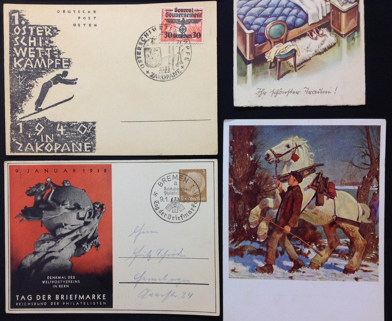 WW2 Third Reich Postcards, 17 in total, eleven of which have been filled in and posted. Political - Image 5 of 6