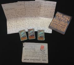 WW1 British tragic letter from a sister to her borther sent on Oct 27th 1918 and returned to say her