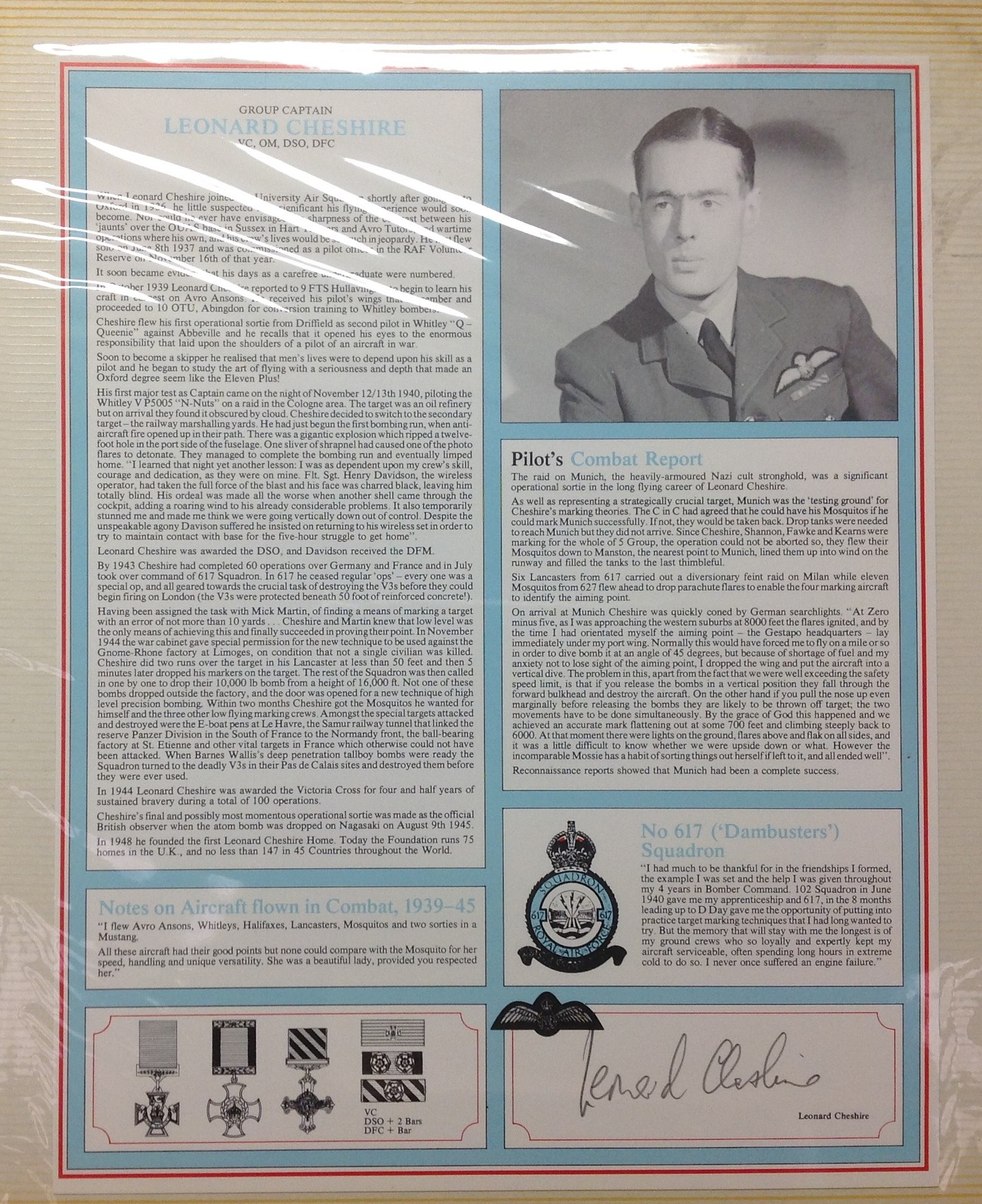 Royal Air Force Fighter Pilot and Bomber Pilot Profile Collection. A limited edition of only 2000 - Image 9 of 10