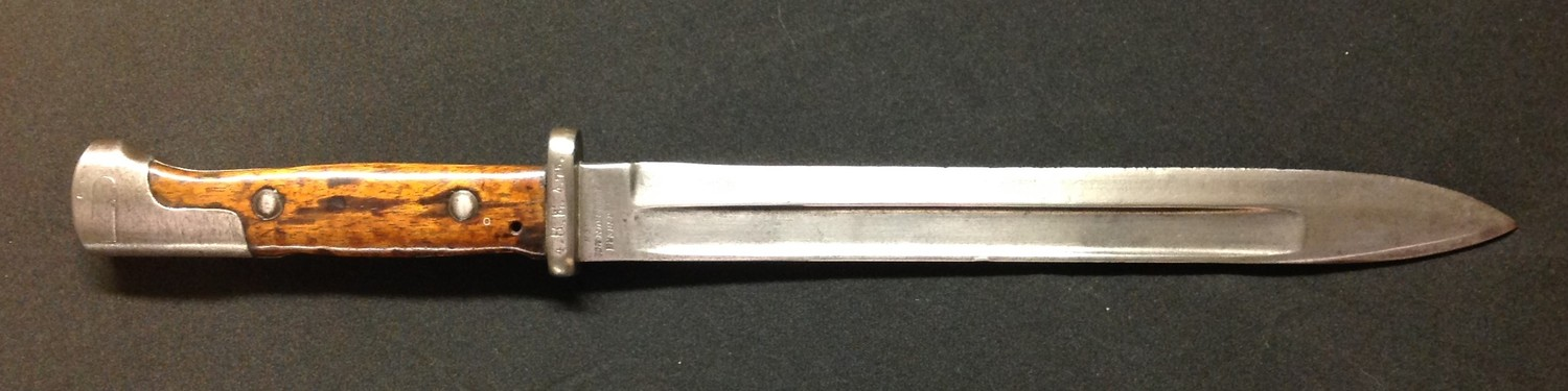 WW1 Imperial German SG 84/98 first type Mauser Bayonet. 245mm long single edged fullered blade maker - Image 2 of 11