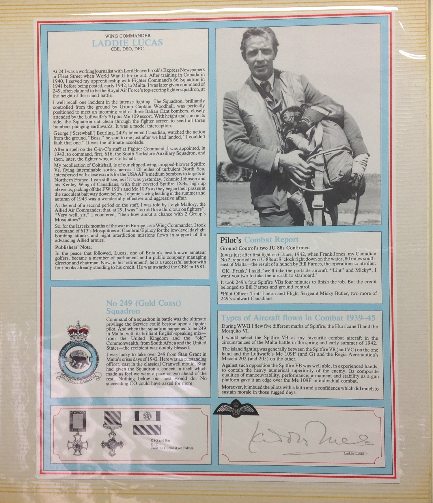 Royal Air Force Fighter Pilot and Bomber Pilot Profile Collection. A limited edition of only 2000 - Image 4 of 10