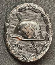 WW2 Third Reich Verwundetenabzeichen im Schwarz 1939 Wound Badge in Black 1939. This example in