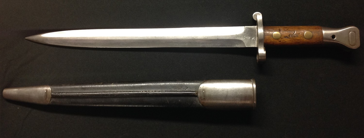 """British 1888 pattern Lee Metford bayonet. Double edged blade 302mm in length, maker marked """" - Image 2 of 13"""