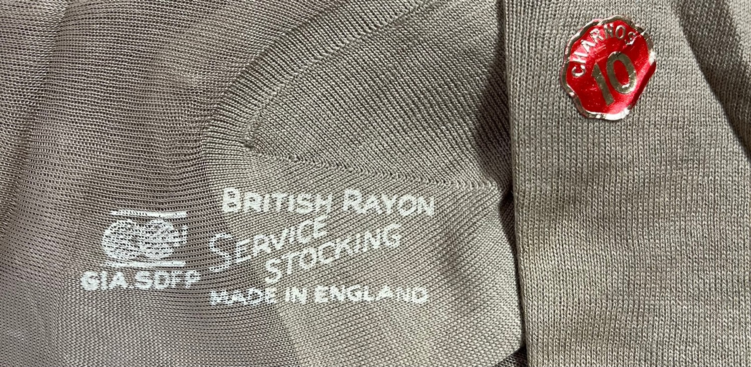 WW2 British ATS and later WRAC Knickers with CC41 Utility mark, pair of wartime seamed service - Image 2 of 3