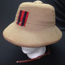 WW2 British Royal Engineers Solar Topee Pith Helmet. Size 7. Complete with original badge to