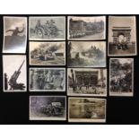 WW2 Third Reich Photo postcards, twelve in total, showing the Feldherrnhalle in Munich, Heinkel