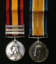 Queens South Africa Medal with South Africa 1902, Transvall and Orange Free State Clasps to 4320 Pte