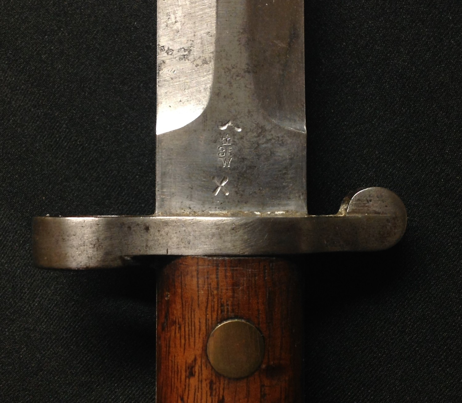 """British 1888 pattern Lee Metford bayonet. Double edged blade 302mm in length, maker marked """" - Image 4 of 13"""