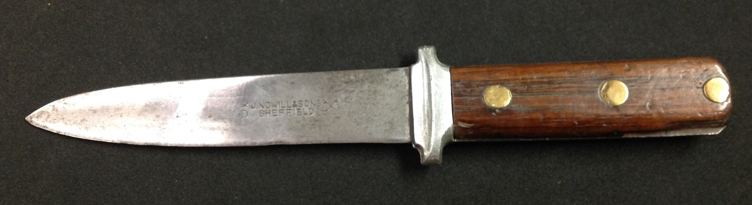 """Two knives by Nowill of Sheffield: Bowie Knife with 145mm long blade with etched makers mark """"J. - Image 10 of 13"""