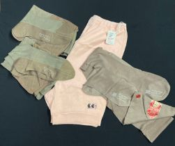 WW2 British ATS and later WRAC Knickers with CC41 Utility mark, pair of wartime seamed service