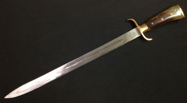 """A British made """"Endure"""" Hunting Cutlass with 450mm long fullered single edged blade. Maker marked """""""