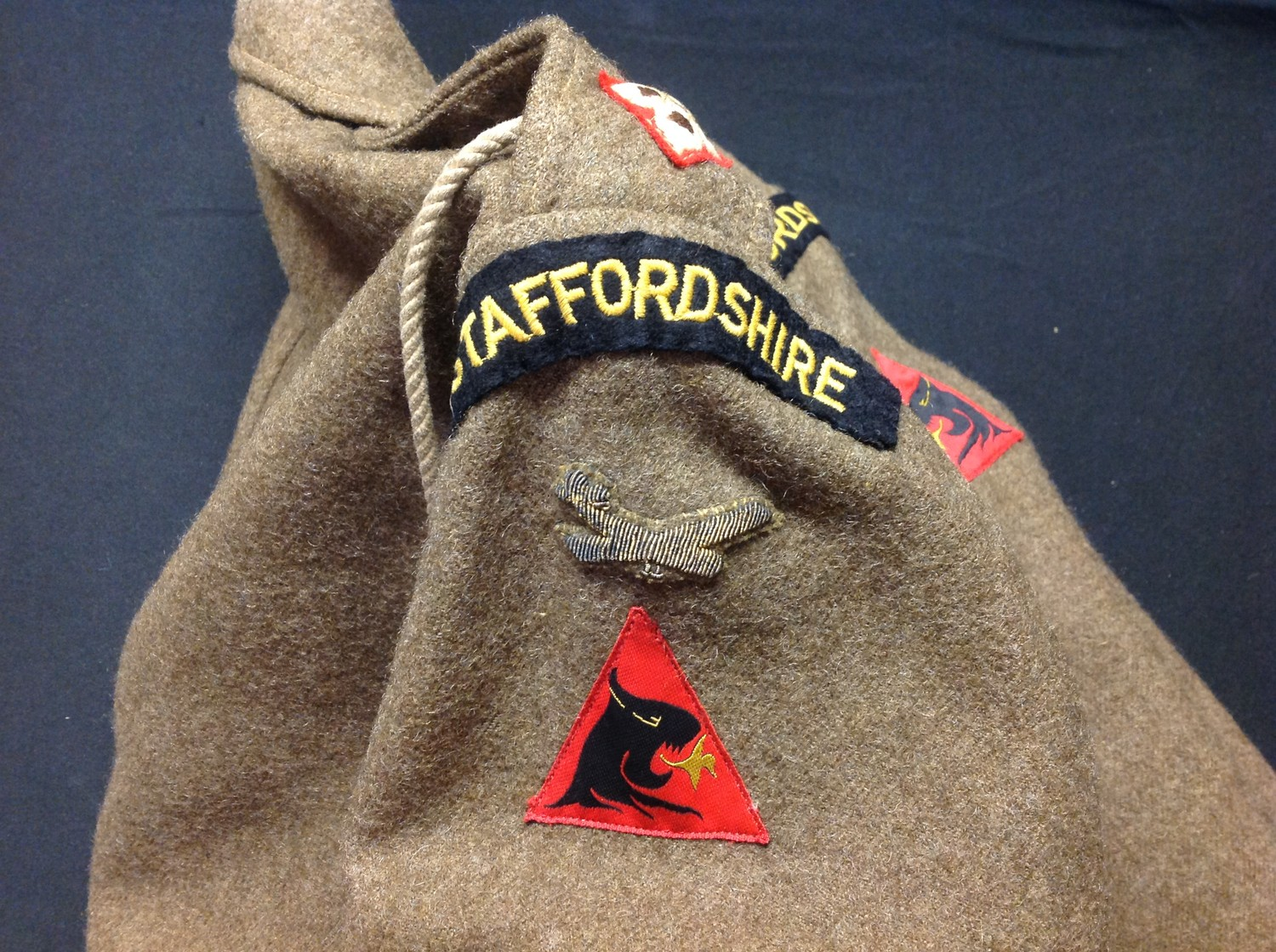 British Army Staffordshire Regiment 1949 Pattern Captains Battledress Blouse. Complete with all - Image 5 of 8