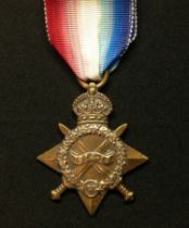 WW1 British 1914-15 Star complete with ribbon to 9106 Pte G Harris, East Yorkshire Regt.