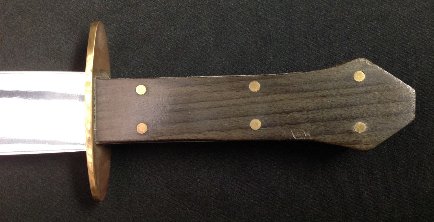 Bowie Knife with 266mm long blade with a die stamped Skull & Crossbones to the ricasso and an etched - Image 7 of 8