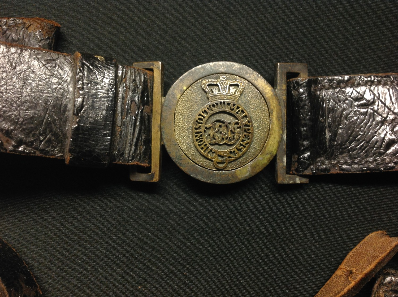"Georgian / Victorian British Army Officers Sabretashe. Marked ""Mr Shawcross, Mt Troop No18, KC - Image 6 of 9"