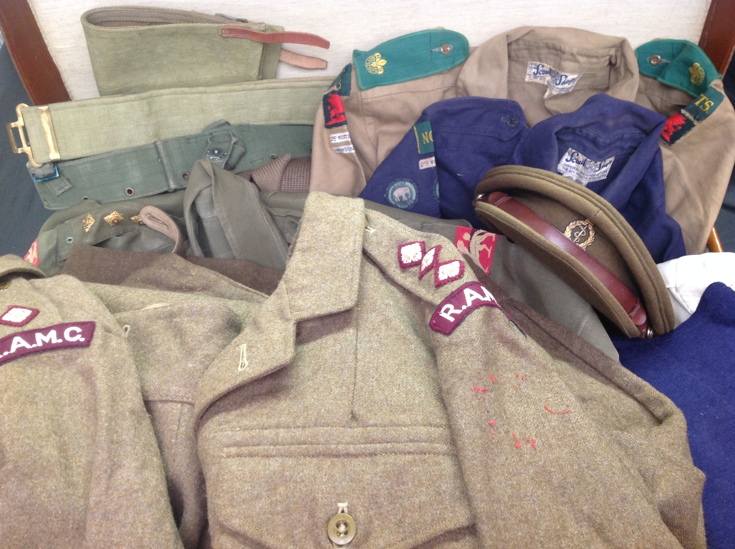 Post War British RAMC Officers uniform grouping to 453847 Captain J.A.K Wightman. This large and