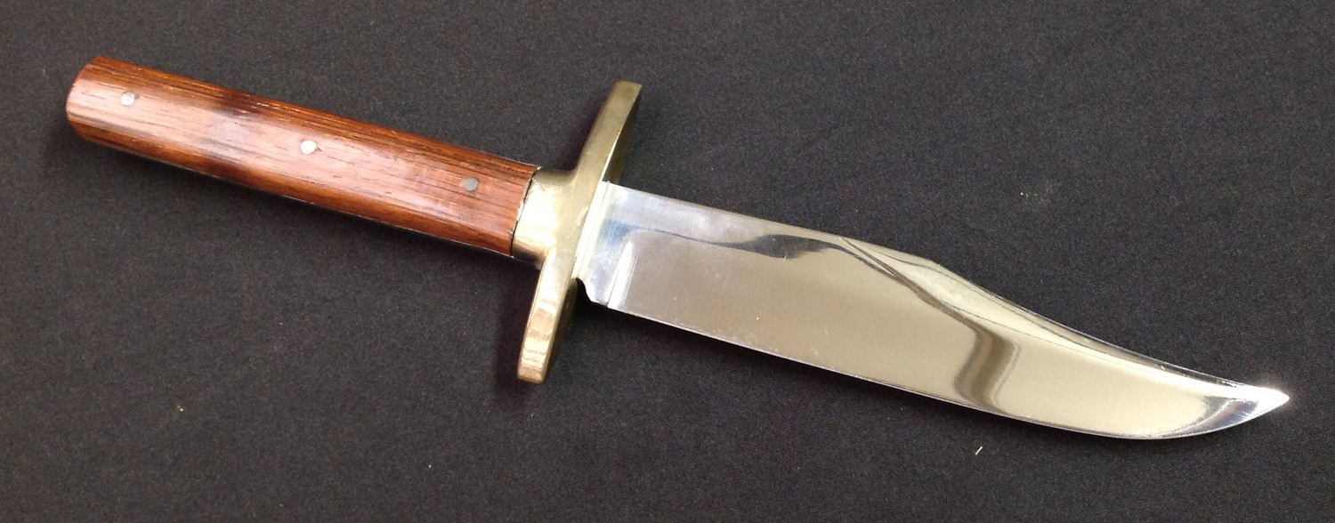 """Two knives by Nowill of Sheffield: Bowie Knife with 145mm long blade with etched makers mark """"J. - Image 5 of 13"""