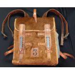 """WW2 Third Reich Fernsprechtornister 3. Signalers Backpack. Maker marked """"bdt"""" for Salewa"""