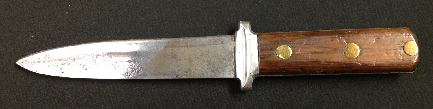 """Two knives by Nowill of Sheffield: Bowie Knife with 145mm long blade with etched makers mark """"J. - Image 11 of 13"""