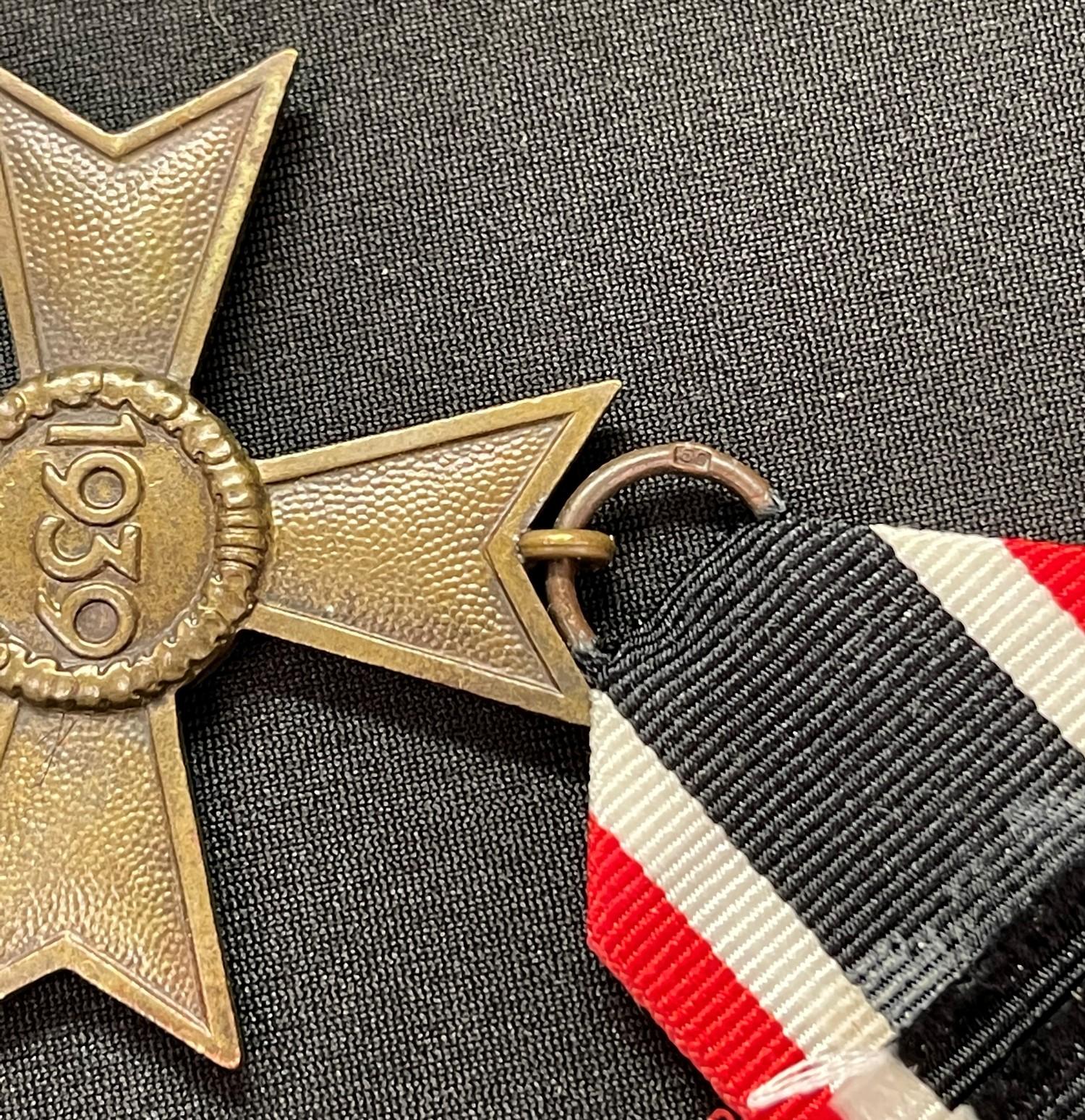 WW2 Third Reich Kriegsverdienstkreuz ohne Schwerten II klasse. War Merit Cross without Swords 2nd - Image 3 of 4