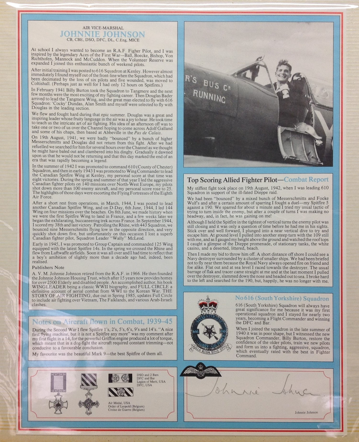 Royal Air Force Fighter Pilot and Bomber Pilot Profile Collection. A limited edition of only 2000 - Image 5 of 10
