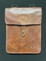 WW2 Japanese Map Case (No Star insignia) covered with written dedications by a member of the Far