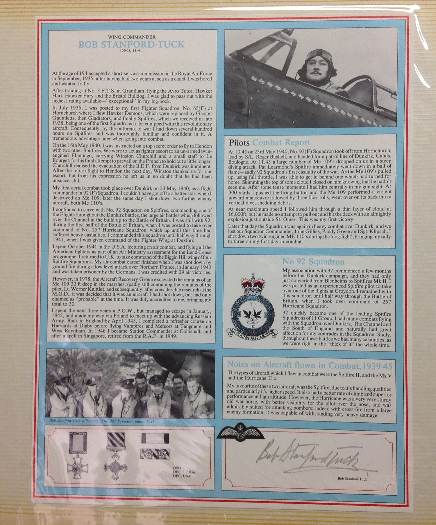 Royal Air Force Fighter Pilot and Bomber Pilot Profile Collection. A limited edition of only 2000 - Image 3 of 10