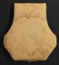 WW2 USAAF AN-6510 Seat Type Parachute Back Cushion. Tan canvas with working zip fasteners, both