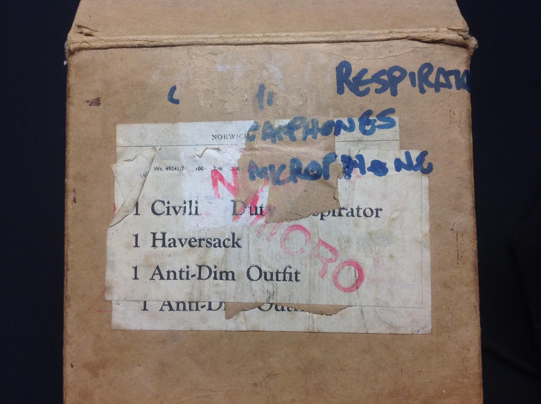 WW2 British Home Front Special Service Civil Duty Respirator MkIII Radio Operators rare variant. - Image 2 of 7