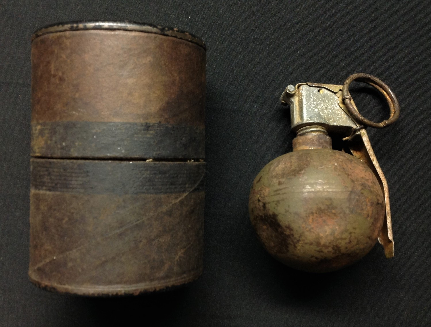 """Veitnam War era US M-67 """"Baseball"""" Hand Grenade INERT & FFE. Fited with fuze M213 dated 4/63 and"""