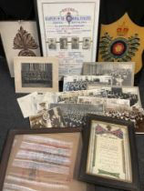 """WW1 British 23rd """"Sportsmans"""" battalion Royal Fusiliers archive collection comprising of: a hand"""