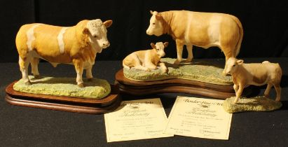 A Border Fine Arts model, Simmental Bull, limited edition, 660/850, certificate; another,