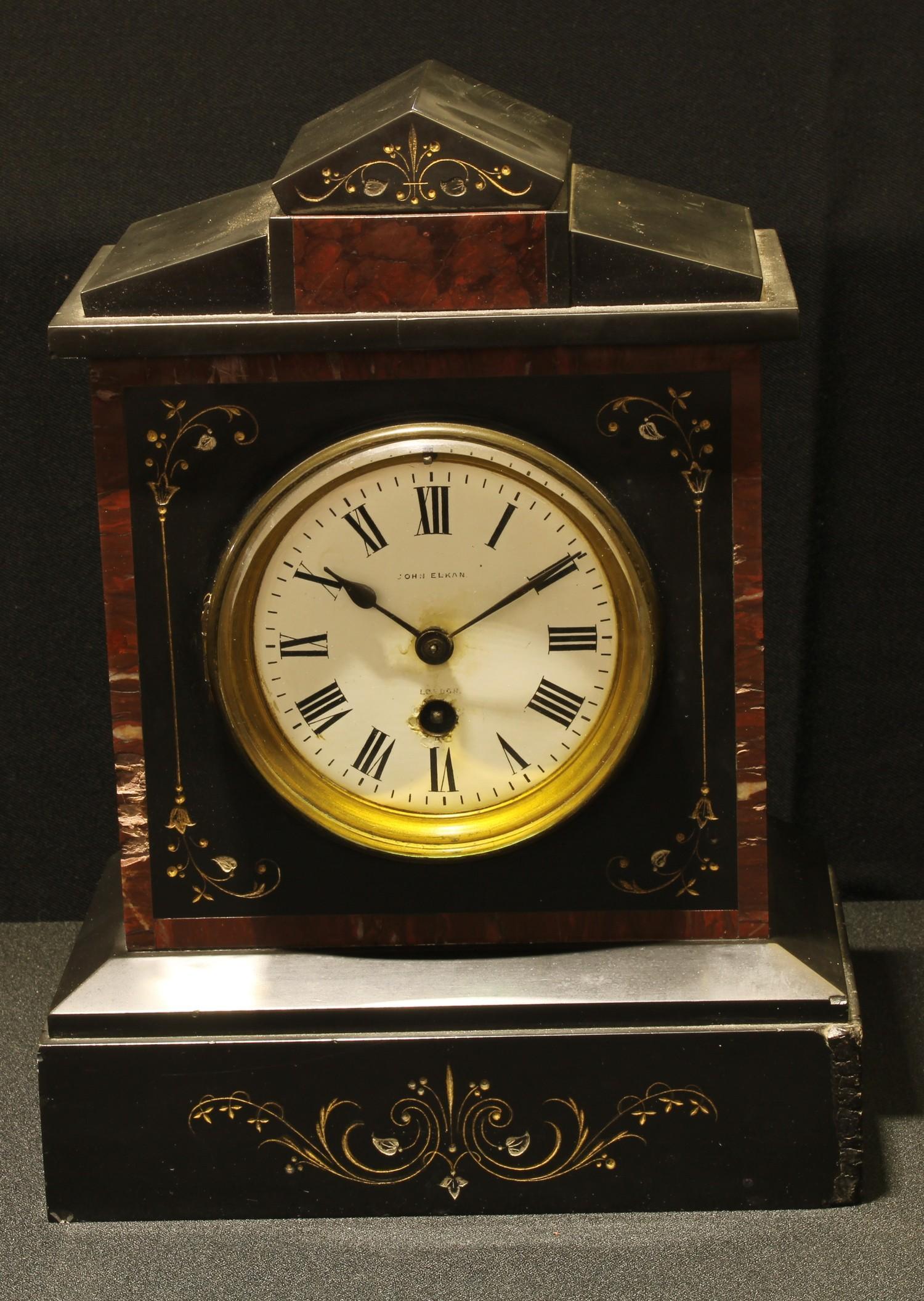A 19th century noir Belge mantel clock, c.1880