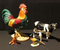 A Beswick model of a Leghorn Cockerel, number 1892, 24.5cm, printed and impressed marks; a Beswick