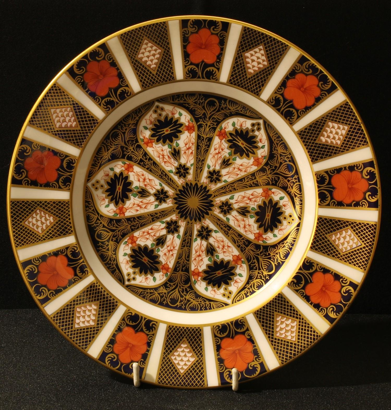 A Royal Crown Derby 1128 pattern plate, 23cm, first quality