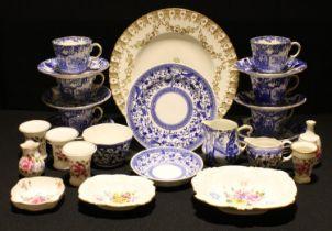 A Royal Crown Derby Mikado pattern part tea service; others, Pembroke, Posies, etc