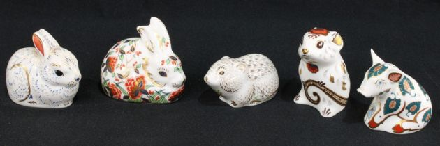 A Royal Crown Derby paperweight, Snuffle Piglet, for the Collector's Guild, gold stopper; others,