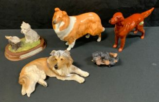 A Beswick collie, Lochinvar of Lady Park; a Red Setter, CH Sugar of Wendover; etc