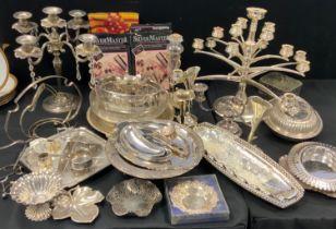 Plated Ware - entree dishes; specimen vases; candelabrum; etc