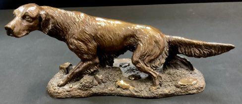 A Giuseppe Greco bronzed resin Setter, no. 2/1000.