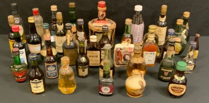 Wines and Spirits - miniature spirits and liqueurs unopened x 36, including Gorges Porto, Bells