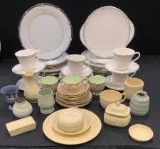 Wedgwood Yellow Jasper Ware - teacup and saucers, vases; trinket dishes; etc Royal Doulton Vogue