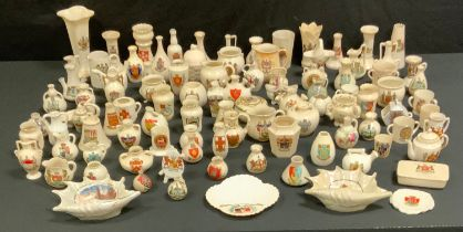 Crested Ware- various, vases, jugs, teaware; etc (approx 90)