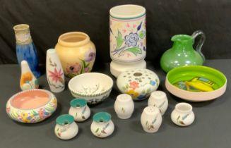 Decorative Ceramics - a Poole Dephis bowl; other, Poole; Radford; Denby Greenwheat; etc