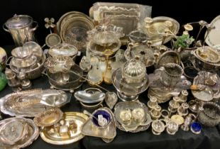 Plated Ware - condiments and stands; serving trays; wine cooler; etc